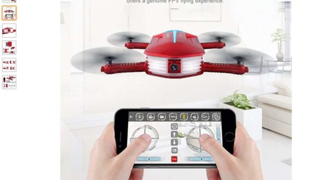 43,11€ port inclus le mini-drone avec camera Wi-fi GoolRC T37