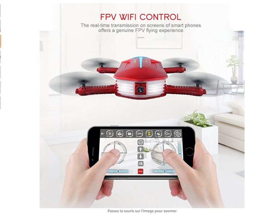 43,11€ port inclus le mini-drone avec camera Wi-fi GoolRC T37