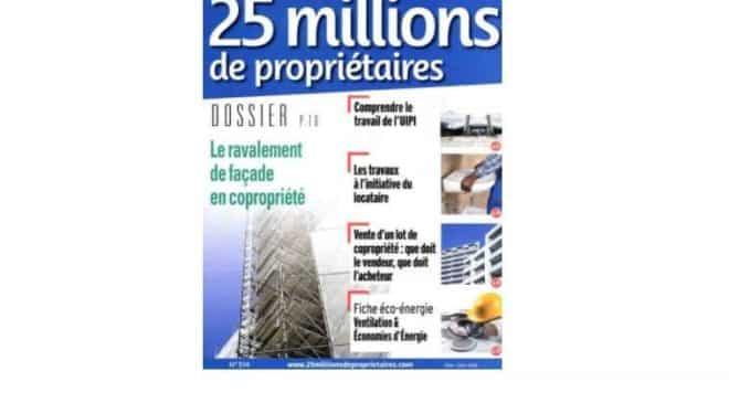 Abonnement 25 Millions de Propriétaires pas cher