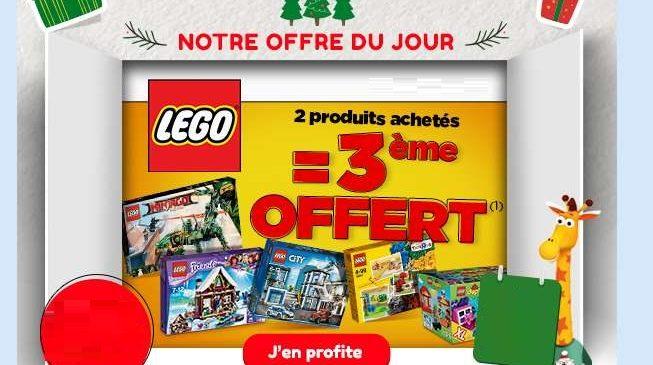 Bon plan Lego sur Toys'R US le troisième gratuit
