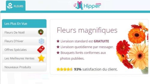 Bon plan livraison de fleurs : -20% sur Hipper