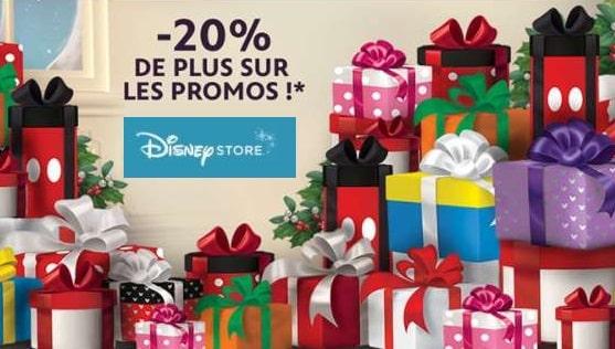 Disney Store : 20% de remise en plus