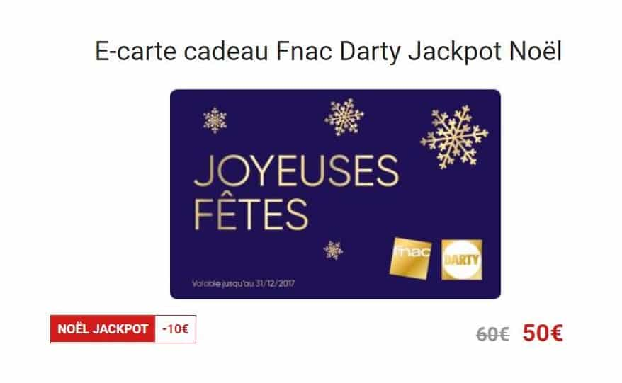 ecarte cadeau no l jackpot carte cadeau 60 pour 50 fnac. Black Bedroom Furniture Sets. Home Design Ideas