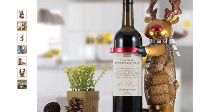 Idée cadeau : 20,99€ le porte bouteille élan métal