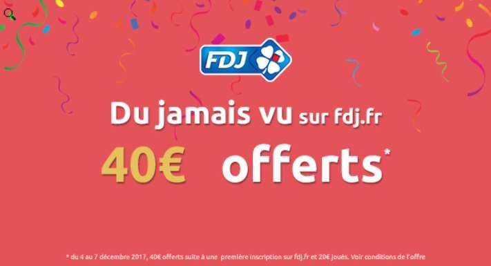 Jouez 20€ et obtenez 40€ offerts sur la Française des Jeux