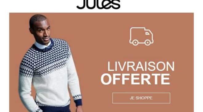 Livraison gratuite sur Jules sans minimum