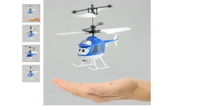 Mini hélicoptère Cartoon volant avec LED