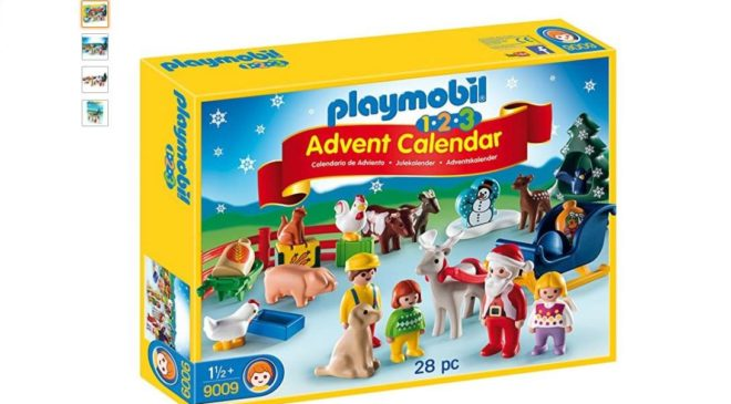 Moins de 15€ calendrier de l'Avent Playmobil 1 2 3 à La Ferme