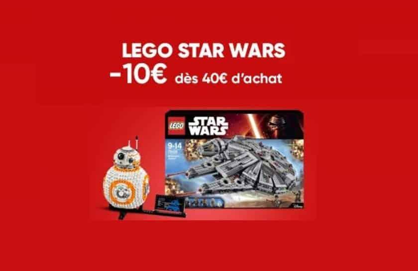 Offre Lego Star Wars 10€ de remise immédiate dès 40€ d'achat
