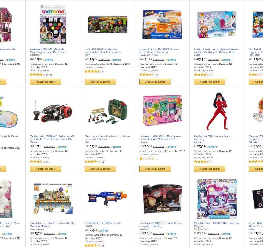 Offre jeux et jouets Amazon