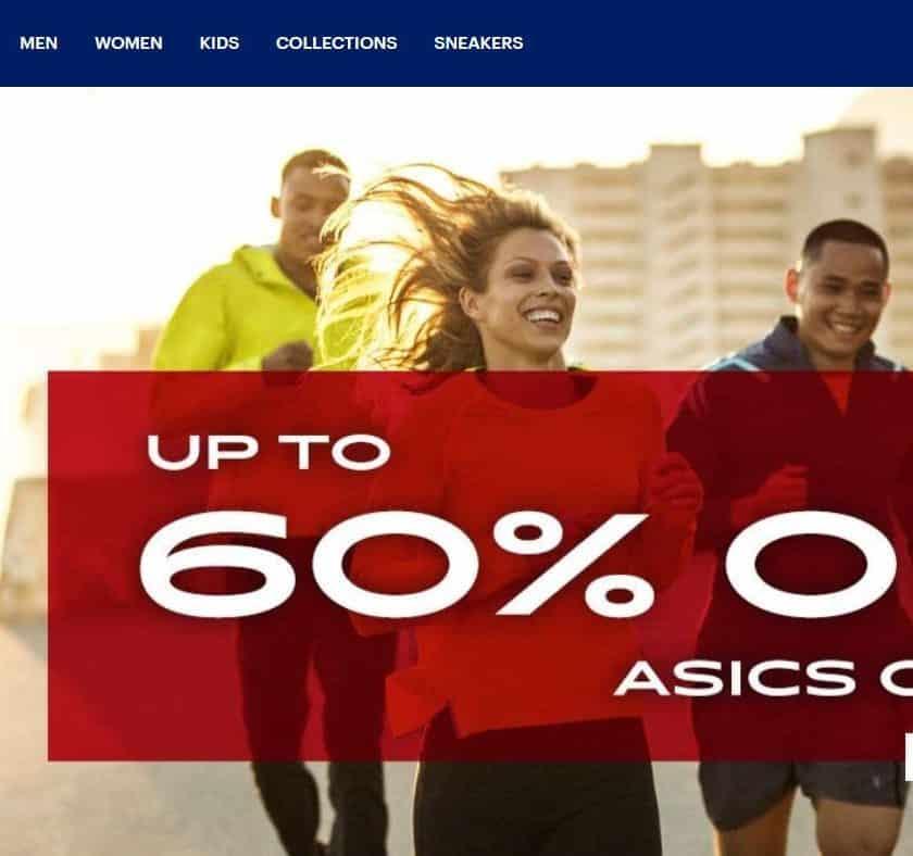 Outlet ASICS jusqu'à -60% et remise de 10% supplémentaires
