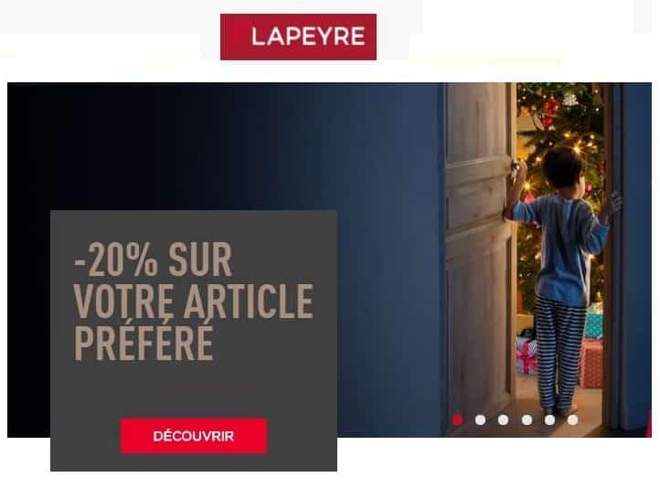Remise de 20% sur Lapeyre