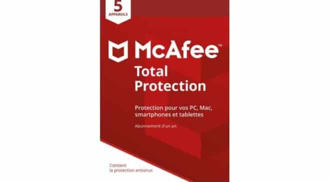 Total Protection McAfee 2018 pas cher