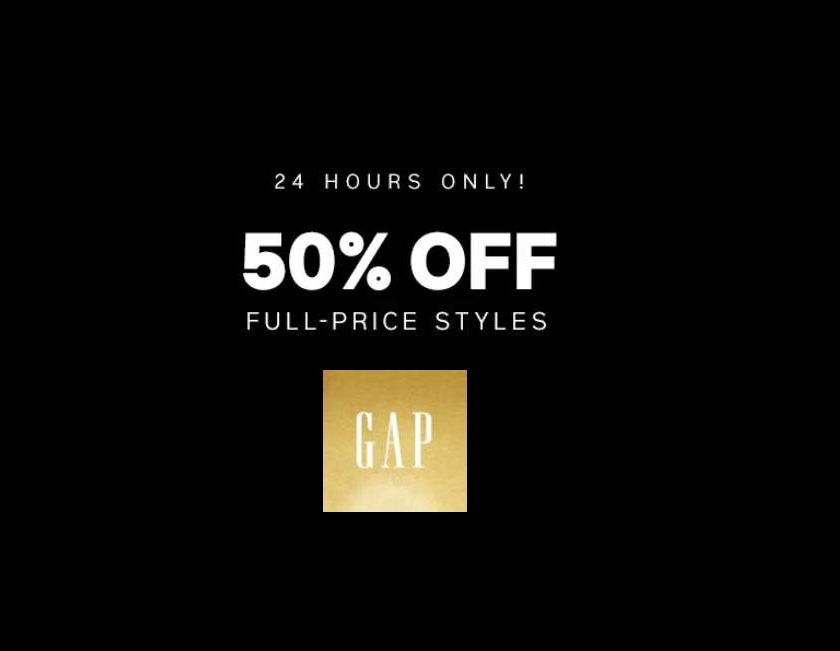 Vente flash GAP tout à -50%