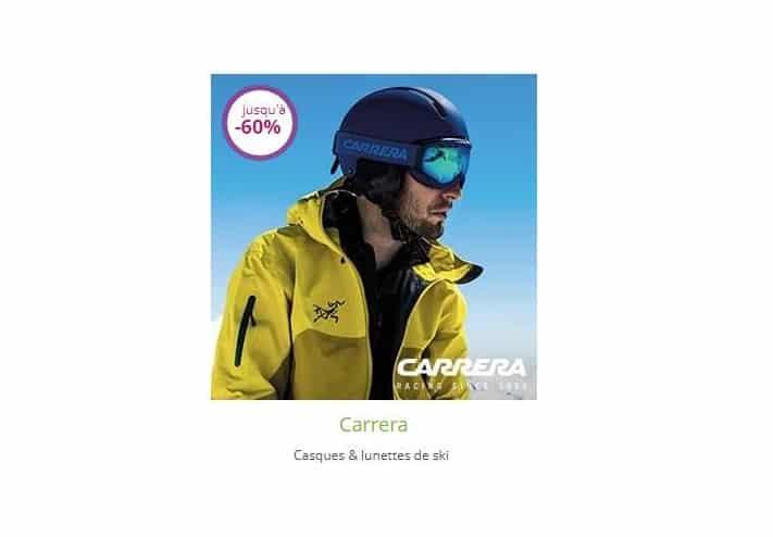 Vente privée Carrera masques et casques de ski