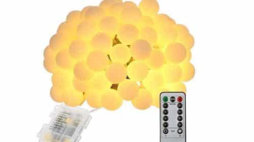 guirlande 80 LED boules avec télécommande
