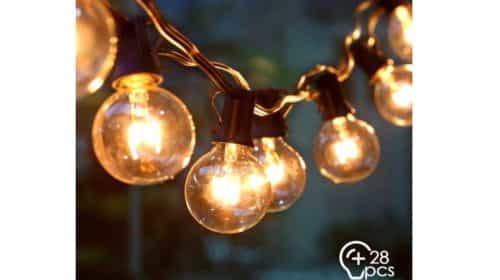guirlande extérieure 25 ampoules boules de 10 mètres Amzdeal
