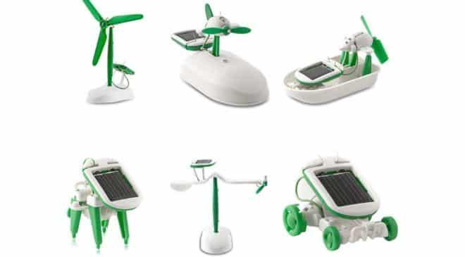 kit jouet solaire à construire (6 en 1)