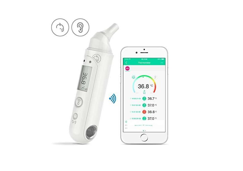 smart-thermomètre sans contact oreille et front Koogeek