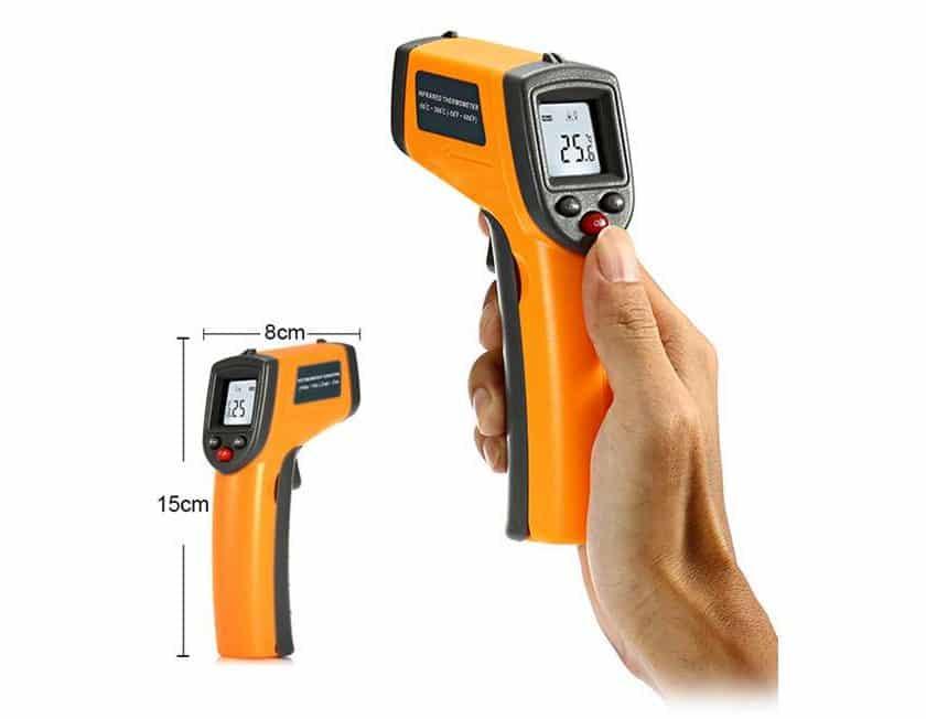 thermomètre infrarouge sans contact pas cher GS320