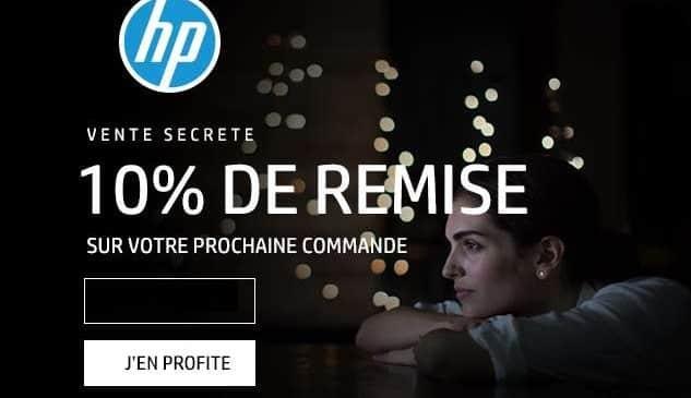 10% sur tout HP même promo