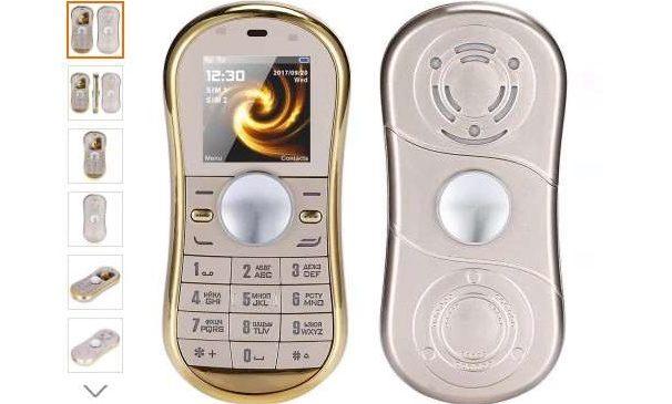 13 20 mobile spinner golden servo s08 double sim mp3. Black Bedroom Furniture Sets. Home Design Ideas
