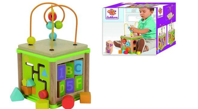 14,11€ le jouet d'éveil cube d'activités en bois Eichhorn