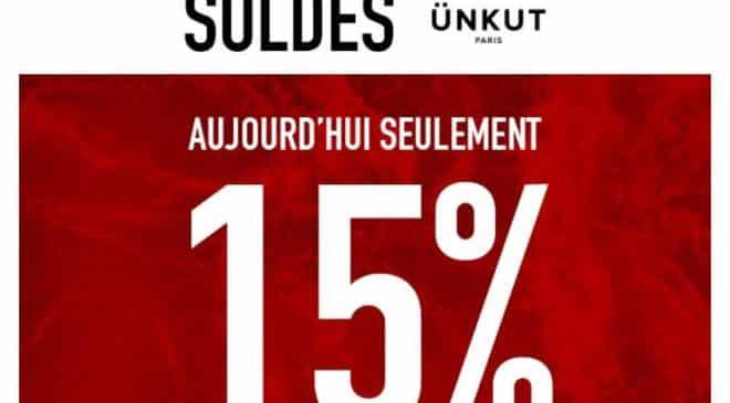 15% supplémentaire sur les Soldes Ünkut