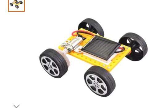 3,21€ le véhicule solaire à assembler port inclus