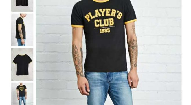 3,25€ T-Shirt homme Players Club Forever 21 port inclus (au lieu de 13€)