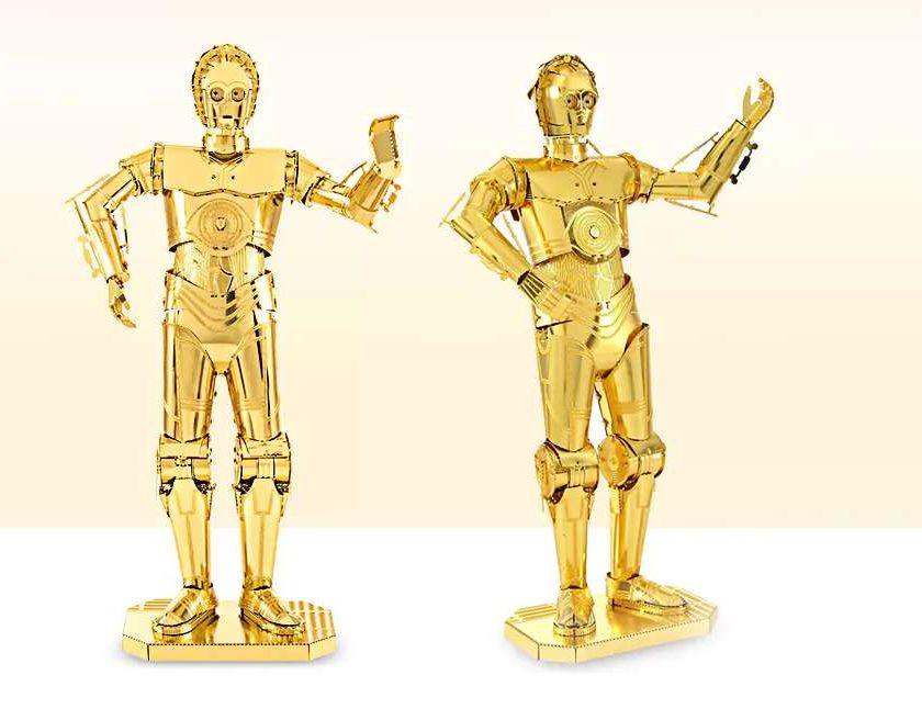 3,38€ le robot C-3PO Starwars Z-6PO 3D métal à construire