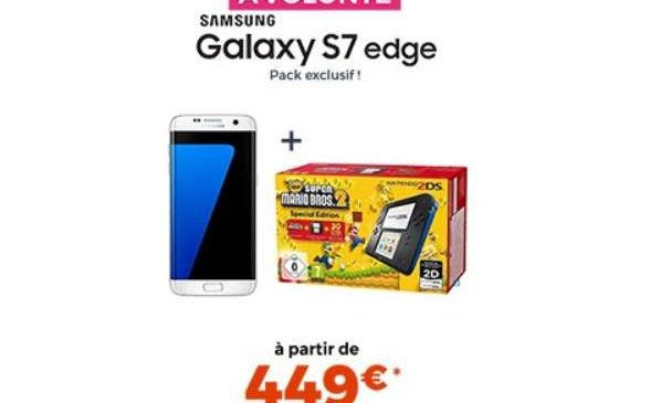 449€ smartphone Galaxy S7 Edge Samsung + Console 2DS