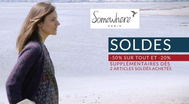 -50% sur tous les Soldes Somewhere 20% suppl. dès 2 articles et livraison gratuite