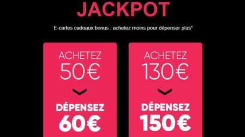 50€ la carte cadeau FNAC de 60€ spécial St Valentin