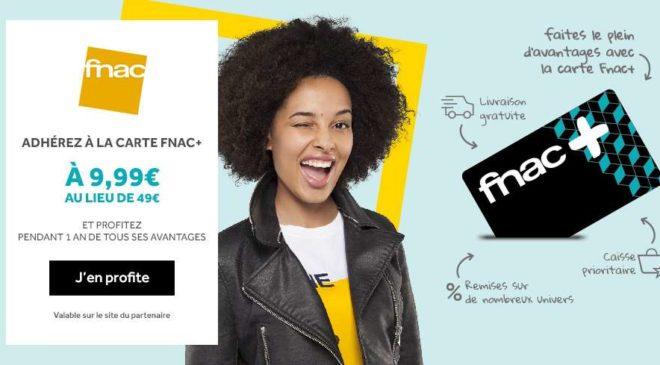 Bon plan 9,99€ la carte FNAC+