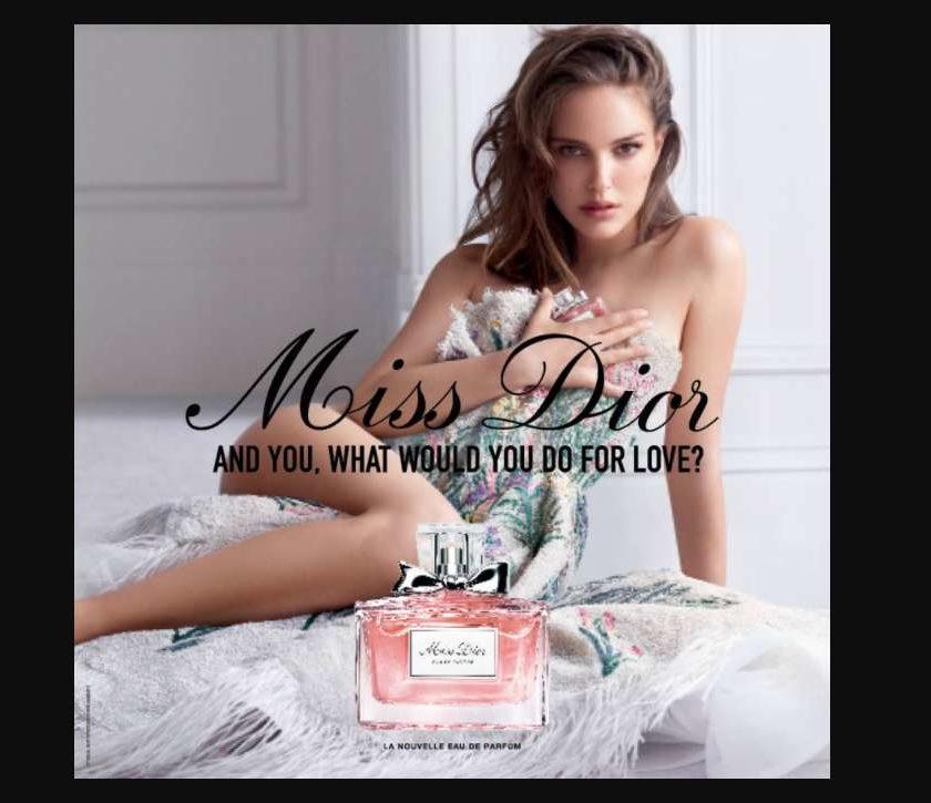 Echantillon gratuit eau de parfum Miss Dior