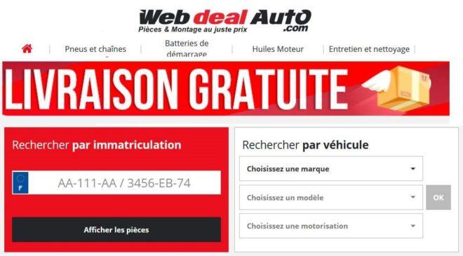 Livraison gratuite sur WebdealAuto