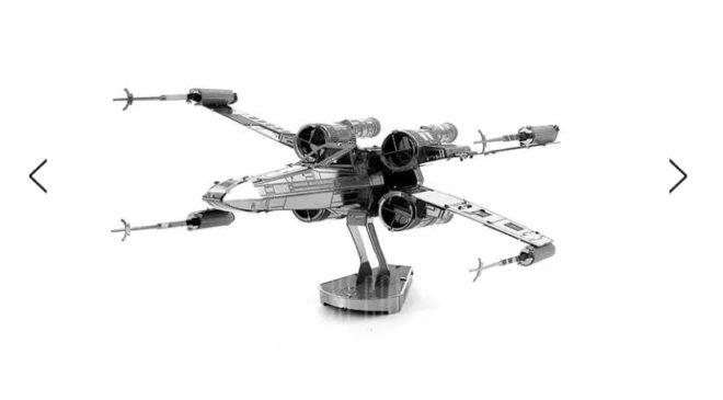 Moins de 2€ le vaisseau X-wing de Starwars en métal à construire