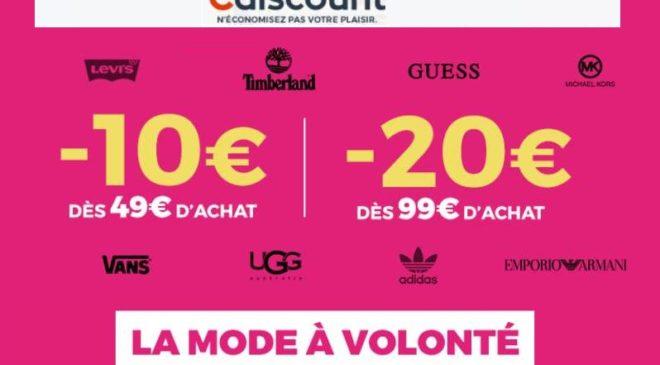 Opération Mode à Volonté Cdiscount = -10€ dès 49€ / -20€ dès 99€ d'achats (même promo)