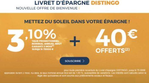 PSA Banque livret d'épargne Distingo à 3,1%