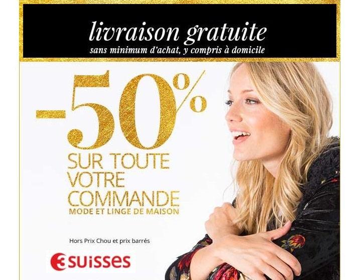 Pr soldes 3 suisses 50 sur votre commande livraison for Soldes 3 suisses linge de maison