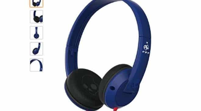 Soldes Amazon 2018 11,76€ le casque audio avec micro Skullcandy Équipe de France
