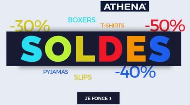Soldes Athena jusqu'à -50% sur les sous-vêtements homme