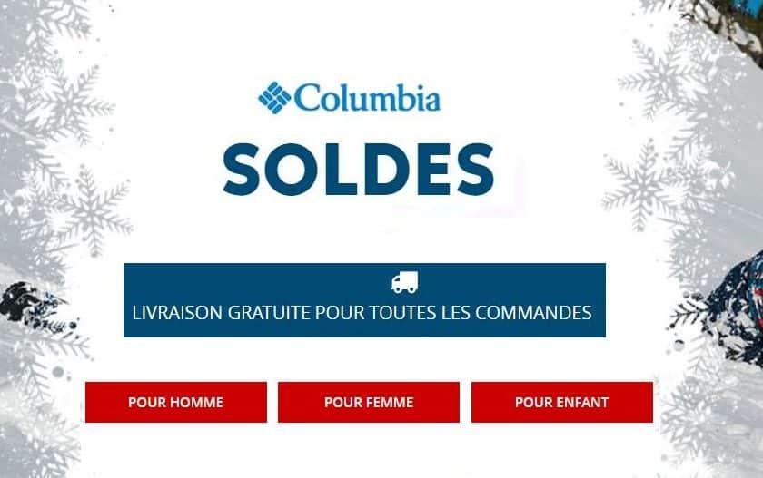 Soldes Columbia livraison gratuite