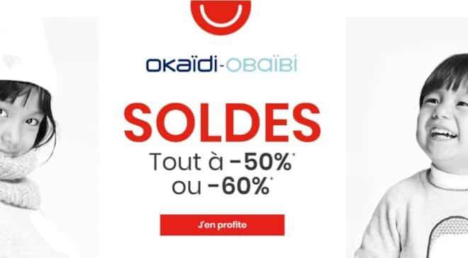 Tout à moitié prix dans les Soldes Obaïbi et Okaïdi