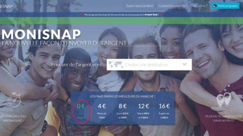 Transfert d'argent sans frais de France vers 80 pays avec Monisnap