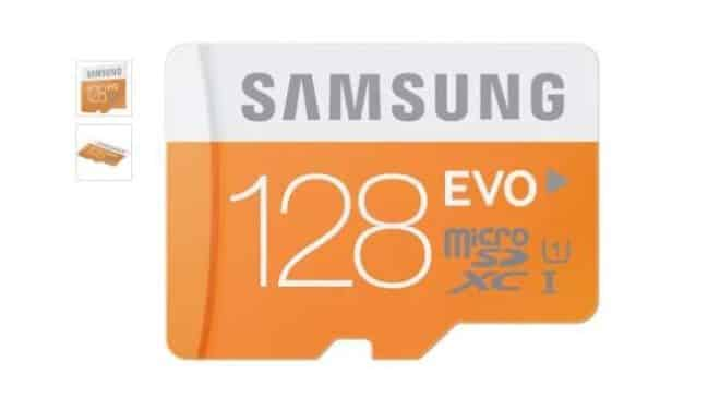carte microSDXC 128Go Samsung EVO classe 10 pas chere