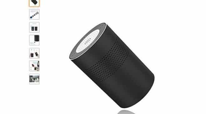 enceinte Bluetooth circulaire 360° aluminium Geker