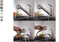 Bonne affaire 46,99€ robinet de cuisine avec douchette extractible Homelody port inclus