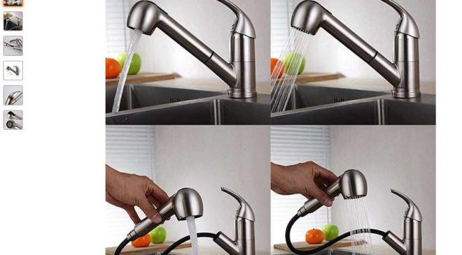 robinet de cuisine avec douchette extractible pas cher Homelody